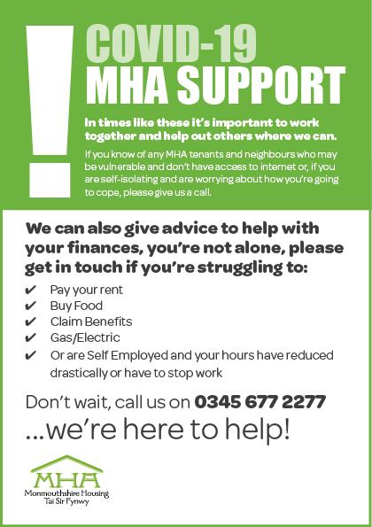 Covid-19 – MHA Support