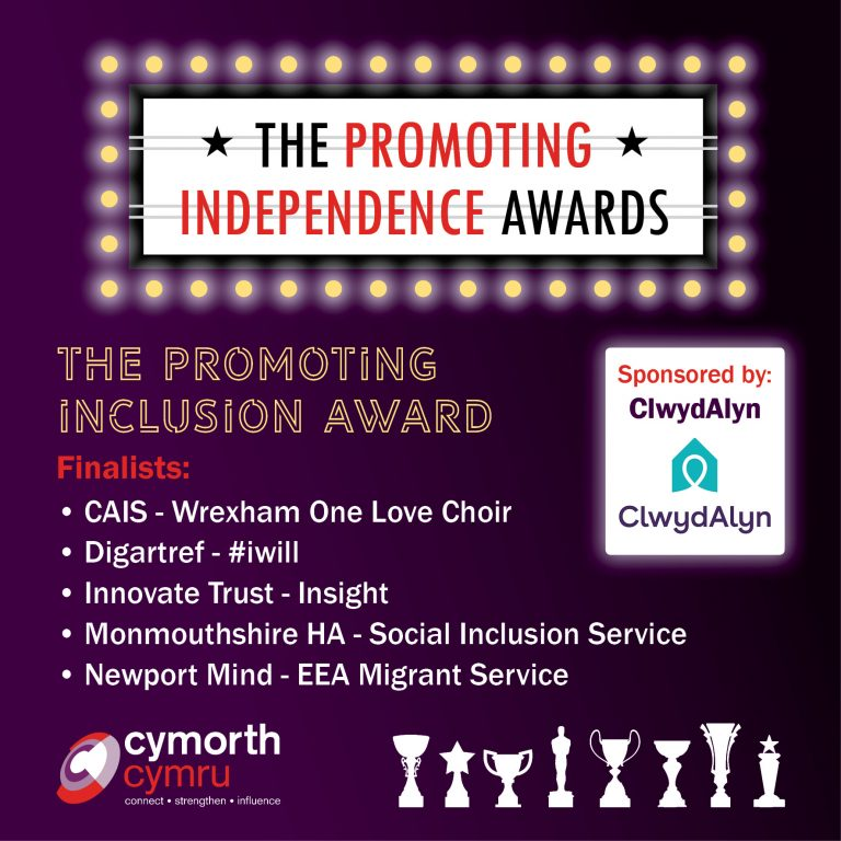 Monmouthshire Housing Association is a finalist at the Promoting Independence Awards