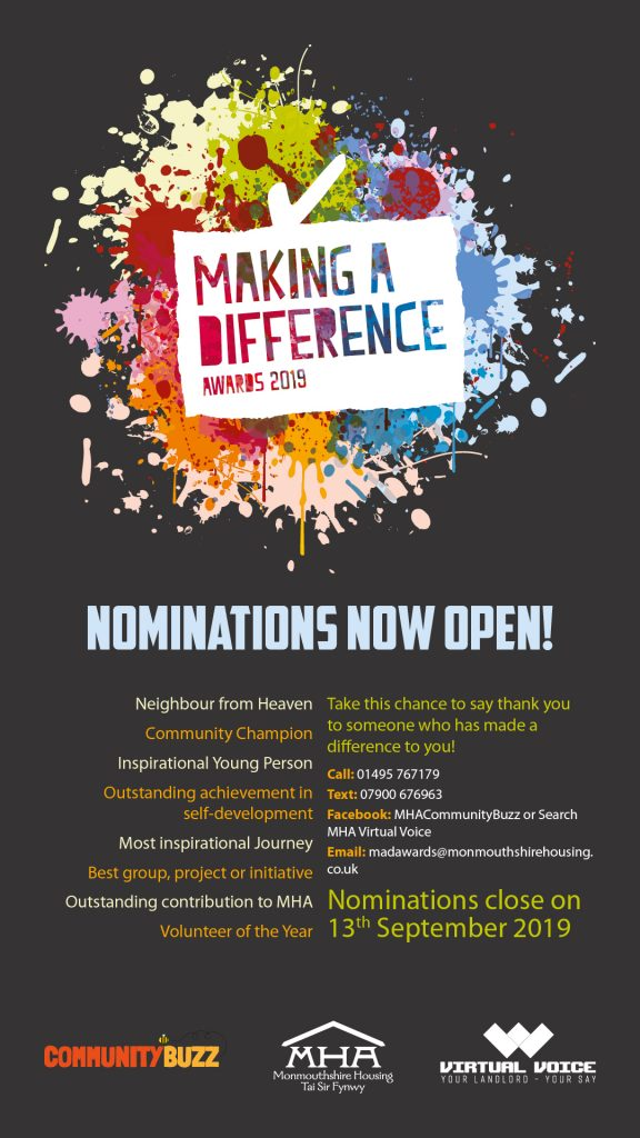 Nominations now open for Making a Difference awards 2019