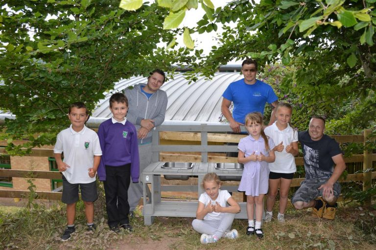 Local Dads Build Mud Kitchen For Abergavenny School