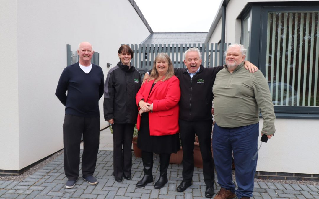 Housing Minister visits MHA 'homes for the future' in Abergavenny