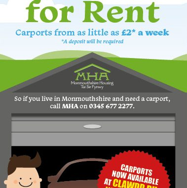 Carports available for rent at Clawdd-Du