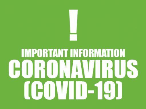 Coronavirus Update – Repairs 27/03/20