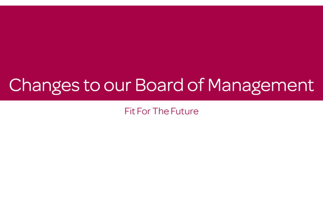 Changes to our Board of Management – Fit for the Future
